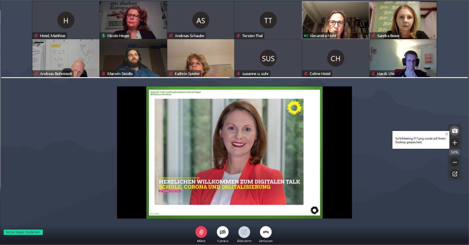 Digitaler Talk zum Thema Schule, Corona und Digitalisierung