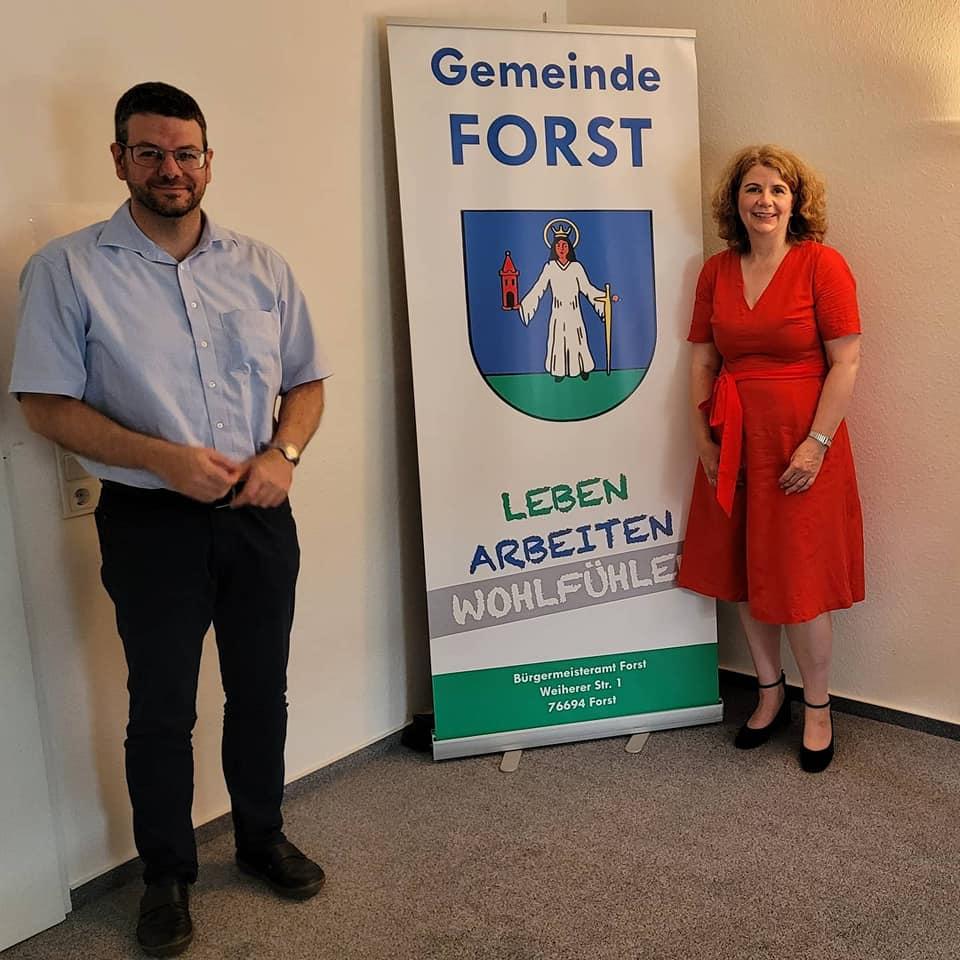 Gespräch mit Bürgermeister Bernd Killinger in Forst