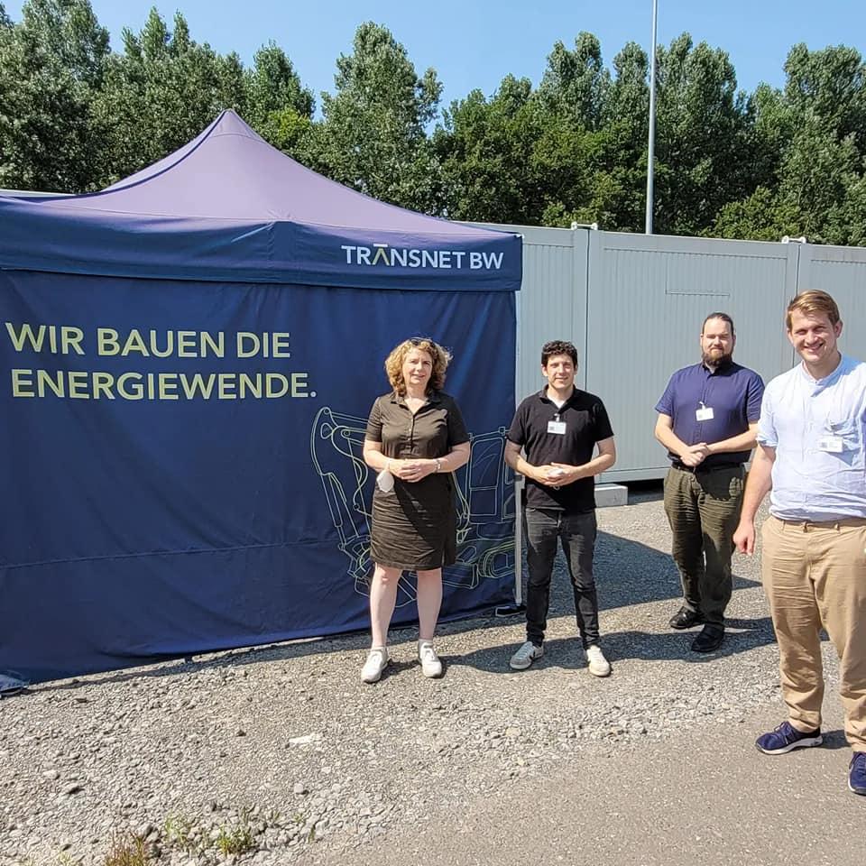 Besuch der TransNet Konverter Baustelle in Philippsburg