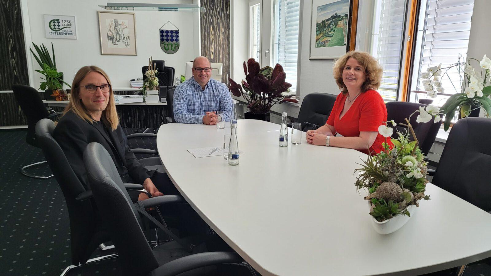 Besuch bei Bürgermeister Jens Geiß in Oftersheim