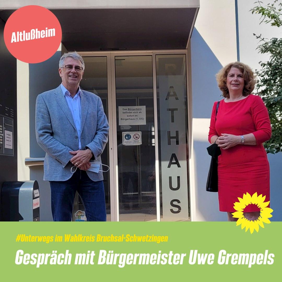 Bürgermeistergespräch mit Uwe Grempels in Altlußheim